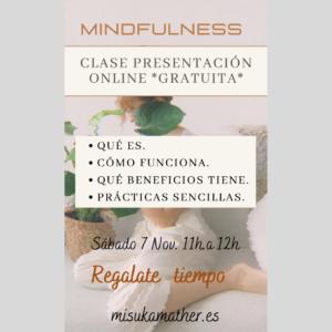 Mindfulnes sesión onlin gratuita